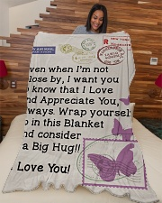 """BUTTERFLY LOVING WIFE Premium Large Fleece Blanket - 60"""" x 80"""" aos-coral-fleece-blanket-60x80-lifestyle-front-04"""