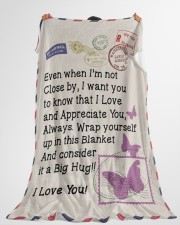 """BUTTERFLY LOVING WIFE Premium Large Fleece Blanket - 60"""" x 80"""" aos-coral-fleece-blanket-60x80-lifestyle-front-10"""
