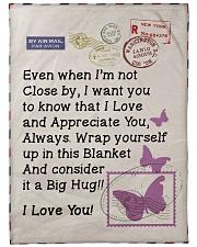 "BUTTERFLY LOVING WIFE Premium Large Fleece Blanket - 60"" x 80"" front"