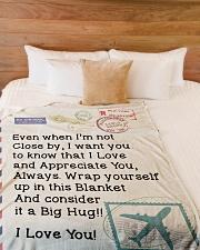 "Pilot's Wife  Premium Large Fleece Blanket - 60"" x 80"" aos-coral-fleece-blanket-60x80-lifestyle-front-02"