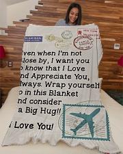 "Pilot's Wife  Premium Large Fleece Blanket - 60"" x 80"" aos-coral-fleece-blanket-60x80-lifestyle-front-04"