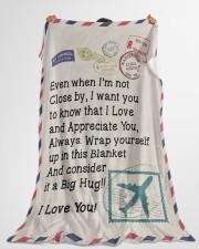 "Pilot's Wife  Premium Large Fleece Blanket - 60"" x 80"" aos-coral-fleece-blanket-60x80-lifestyle-front-10"