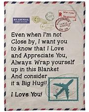 """Pilot's Wife  Premium Large Fleece Blanket - 60"""" x 80"""" front"""