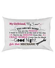 GIFT FOR A MECHANIC'S  GIRLFRIEND - PREMIUM Rectangular Pillowcase back