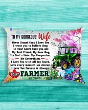 GIFT FOR A FARMER'S  WIFE - PREMIUM Rectangular Pillowcase aos-pillow-rectangle-front-lifestyle-5