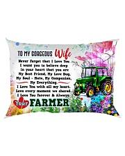 GIFT FOR A FARMER'S  WIFE - PREMIUM Rectangular Pillowcase back