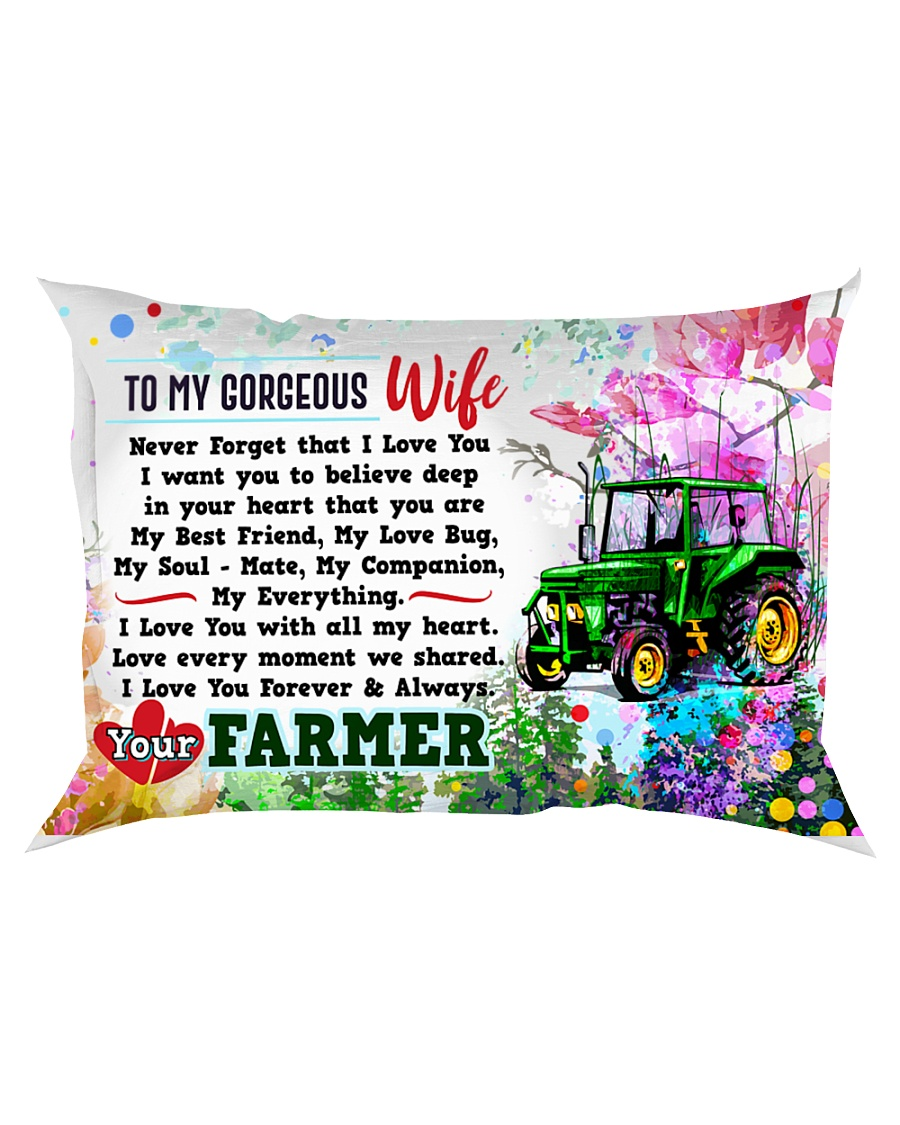 GIFT FOR A FARMER'S  WIFE - PREMIUM Rectangular Pillowcase