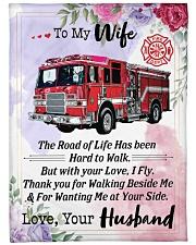 "Firefighter's Wife Large Fleece Blanket - 60"" x 80"" front"