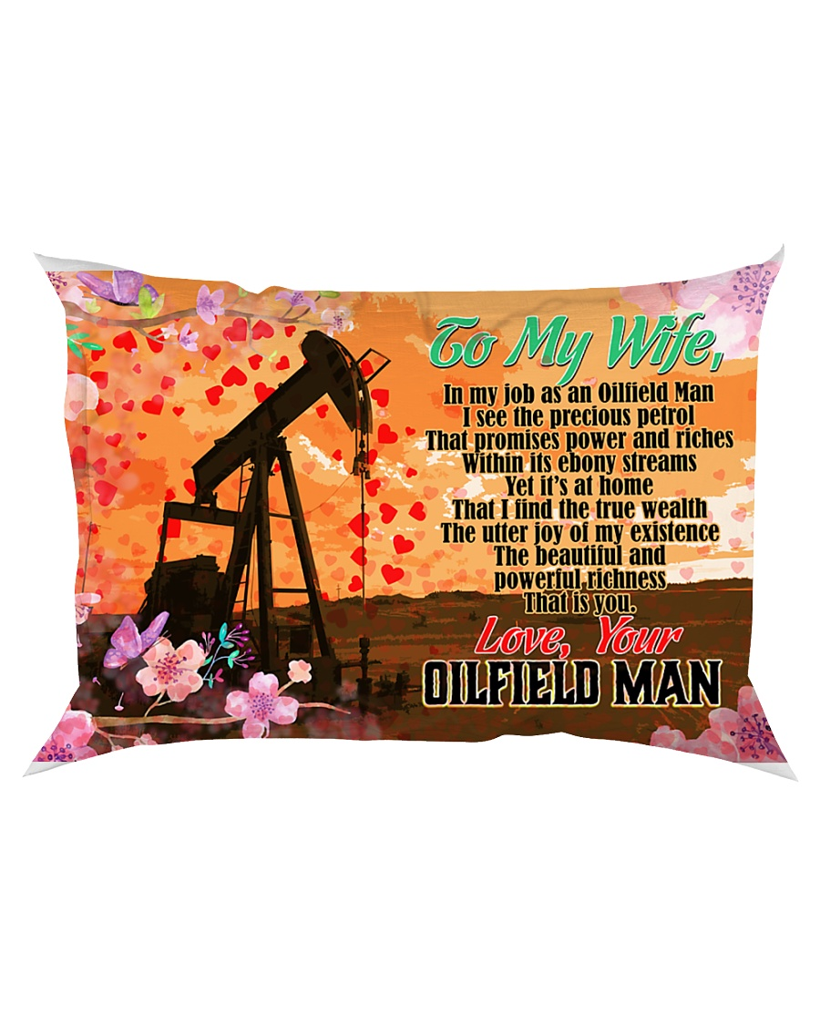 GIFT FOR A OILFIELD MAN'S WIFE - PREMIUM Rectangular Pillowcase