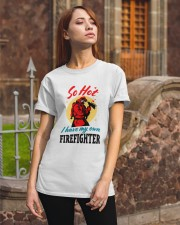 FIREFIGHTER'S WIFE Classic T-Shirt apparel-classic-tshirt-lifestyle-06