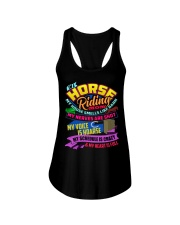 HORSE RIDING MOM Ladies Flowy Tank tile