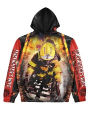Firefighter's Wife Women's All Over Print Hoodie back