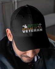 VETERAN'S WIFE Embroidered Hat garment-embroidery-hat-lifestyle-02