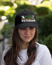 VETERAN'S WIFE Embroidered Hat garment-embroidery-hat-lifestyle-07
