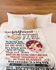 "ELECTRICIAN'S GIRLFRIEND- PREMIUM Large Fleece Blanket - 60"" x 80"" aos-coral-fleece-blanket-60x80-lifestyle-front-02"