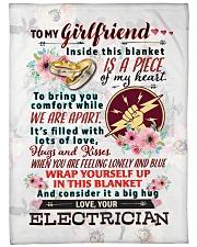 """ELECTRICIAN'S GIRLFRIEND- PREMIUM Large Fleece Blanket - 60"""" x 80"""" front"""
