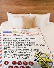 "Lineman's Mom Premium Large Fleece Blanket - 60"" x 80"" aos-coral-fleece-blanket-60x80-lifestyle-front-02"