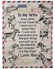 "Gift for Dachshund Loving Wife Large Fleece Blanket - 60"" x 80"" front"