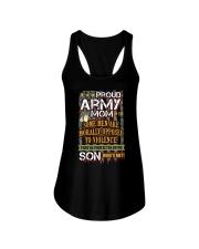 I AM A PROUD ARMY MOM Ladies Flowy Tank thumbnail