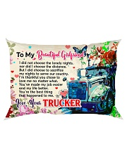 GIFT FOR A TRUCKER'S GIRLFRIEND - PREMIUM Rectangular Pillowcase back