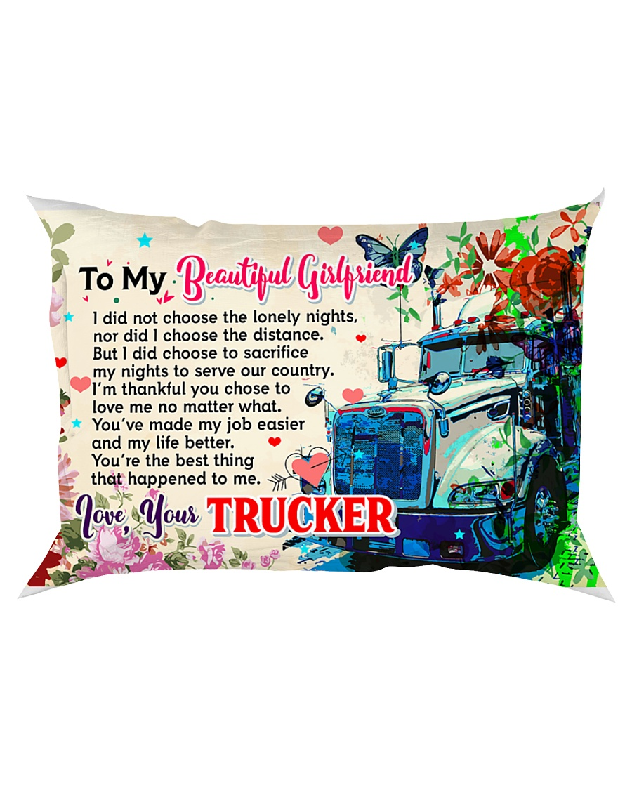 GIFT FOR A TRUCKER'S GIRLFRIEND - PREMIUM Rectangular Pillowcase