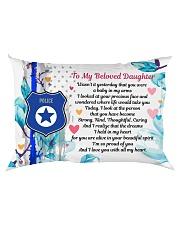 GIFT FOR A POLICE OFFICER'S DAUGHTER - PREMIUM Rectangular Pillowcase back