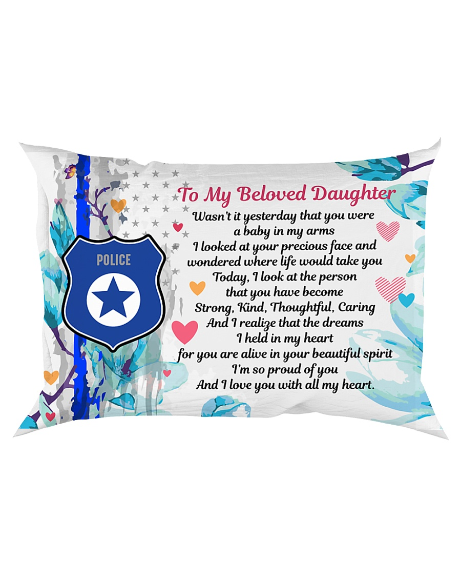 GIFT FOR A POLICE OFFICER'S DAUGHTER - PREMIUM Rectangular Pillowcase