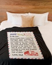 "Trucker's Son Large Fleece Blanket - 60"" x 80"" aos-coral-fleece-blanket-60x80-lifestyle-front-02"
