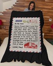 "Trucker's Son Large Fleece Blanket - 60"" x 80"" aos-coral-fleece-blanket-60x80-lifestyle-front-04"