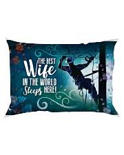 GIFT FOR A LINEMAN'S WIFE- PREMIUM Rectangular Pillowcase back