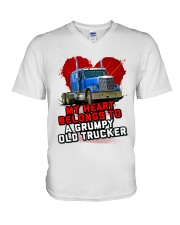 Trucker's Wife V-Neck T-Shirt tile