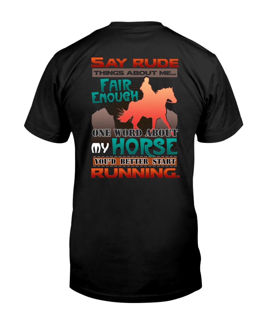 HORSE RIDING RUNNING FAIR Classic T-Shirt