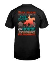 HORSE RIDING RUNNING FAIR Classic T-Shirt back