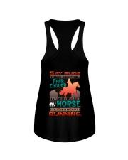 HORSE RIDING RUNNING FAIR Ladies Flowy Tank thumbnail