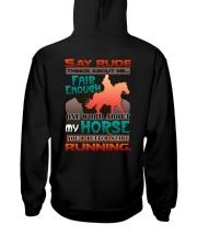 HORSE RIDING RUNNING FAIR Hooded Sweatshirt thumbnail