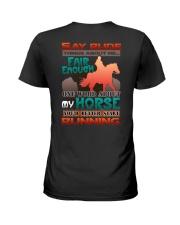 HORSE RIDING RUNNING FAIR Ladies T-Shirt thumbnail