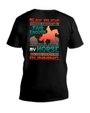 HORSE RIDING RUNNING FAIR V-Neck T-Shirt thumbnail
