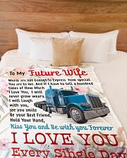 "TRUCKER'S FUTURE WIFE- PREMIUM BLANKET  Large Fleece Blanket - 60"" x 80"" aos-coral-fleece-blanket-60x80-lifestyle-front-02"