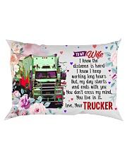 GIFT FOR A TRUCKER'S WIFE- PREMIUM Rectangular Pillowcase front