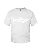 Womens Momma Shark Mother Mom Birthday Mother s Da Youth T-Shirt thumbnail