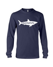 Womens Momma Shark Mother Mom Birthday Mother s Da Long Sleeve Tee front
