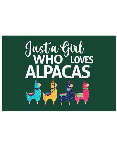 Just A Girl Who Loves Alpacas Farmer Lover