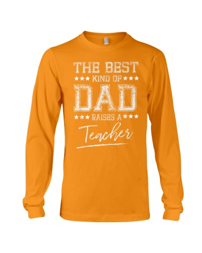 Mens The Best Dad Raises a Teacher Birthday Gifts