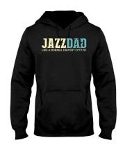 Mens Jazz Dad Like Normal Dad But Cooler Shirt Jaz Hooded Sweatshirt thumbnail