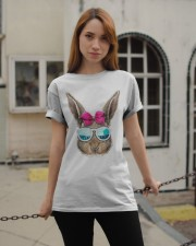 This cute rabbit face top features an adorable bun Classic T-Shirt apparel-classic-tshirt-lifestyle-19
