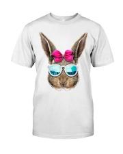 This cute rabbit face top features an adorable bun Classic T-Shirt front