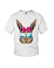 This cute rabbit face top features an adorable bun Youth T-Shirt thumbnail