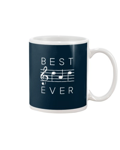 Best Dad Ever Music TShirt Notes Funny Fathers Day