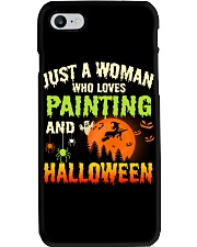 JUST A WOMAN WHO LOVES PAINTING AND HALLOWEEN Phone Case thumbnail
