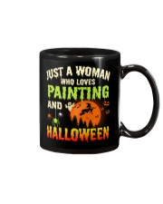 JUST A WOMAN WHO LOVES PAINTING AND HALLOWEEN Mug thumbnail